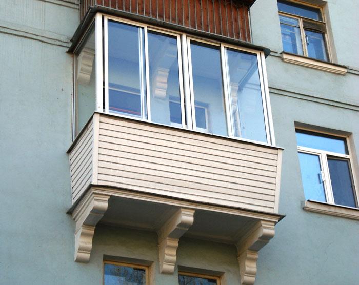 Пример обычного балкона.