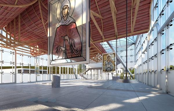 Стеклянная церковь в проекте Артура Купрейчука