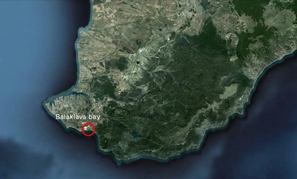 Балаклавская бухта на Крымском полуострове