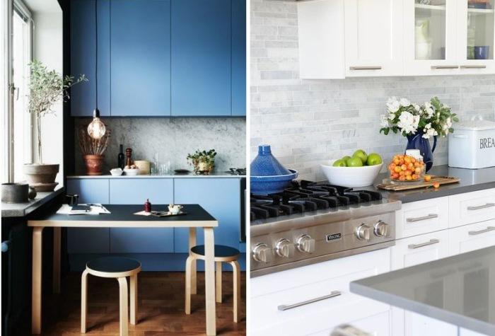 Cтильные кухонные фартуки, которые преобразят интерьер.