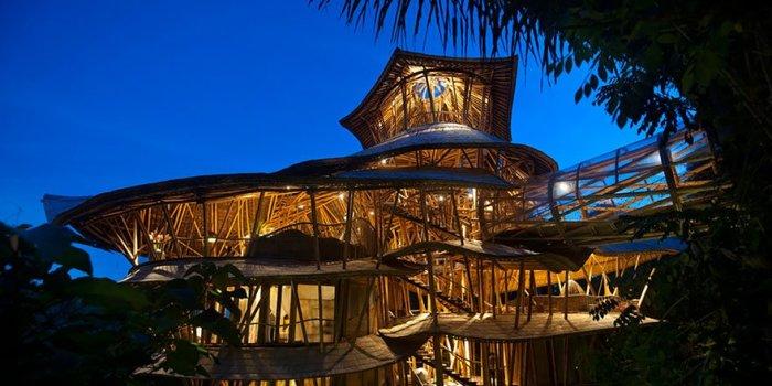 Модульные бамбуковые дома.
