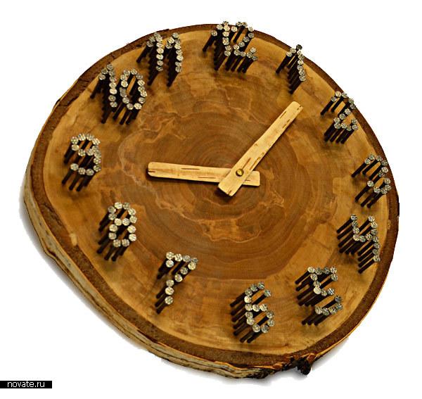 Настенные часы 77nails&birtch
