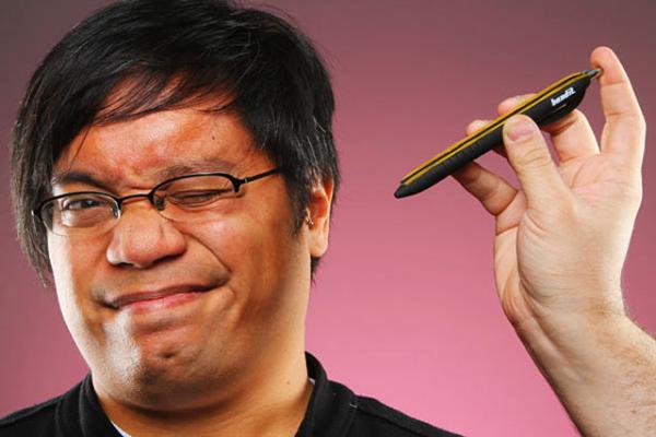 Ручка резиновый бандит