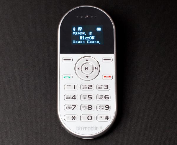 BB-mobile micrON-2: Bluetooth-гарнитура с дизайном мобильника
