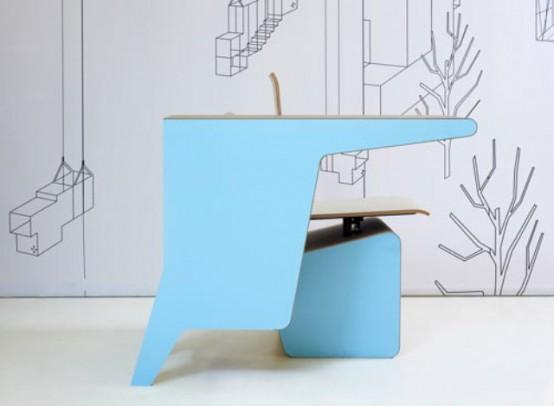 #006 SideSeat – минималистский мини-офис от голландских дизайнеров
