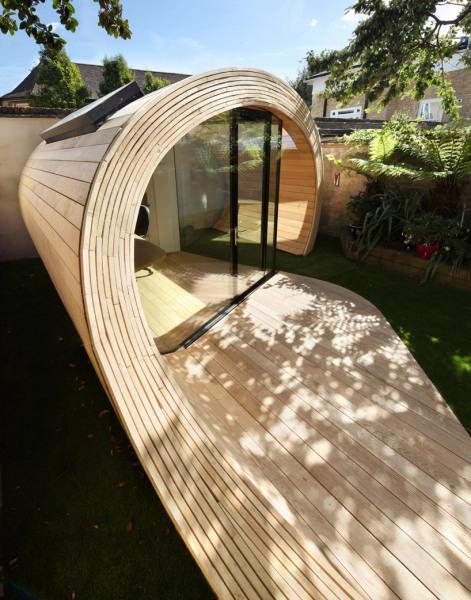 Shoffice (shed + office) – деревянный мини-офис от Platform 5 architects