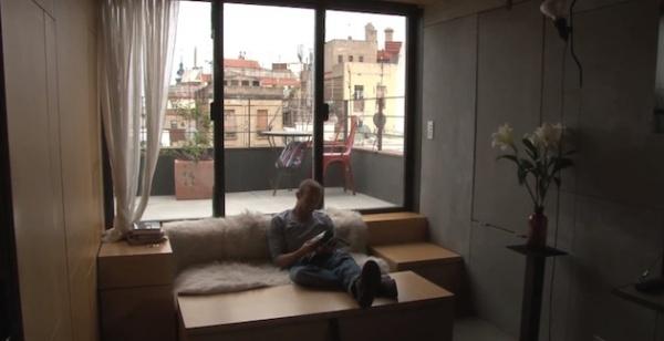 Квартира-трансформер площадью 27 квадратных метров в Барселоне
