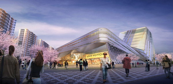 «Городской каньон»: проект многоцелевого центра в Шанхае