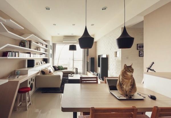 Perfect: интерьер для людей и кошек в Тайване
