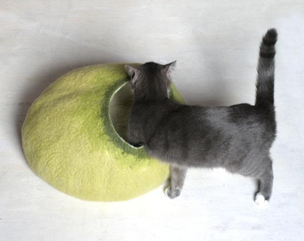 Cat Nap Cocoon – шерстяные «спальни» для кошек от литовских дизайнеров