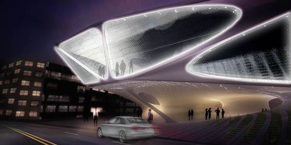 Daegu Gosan Library Proposal - футуристический проект современной библиотеки от SDA