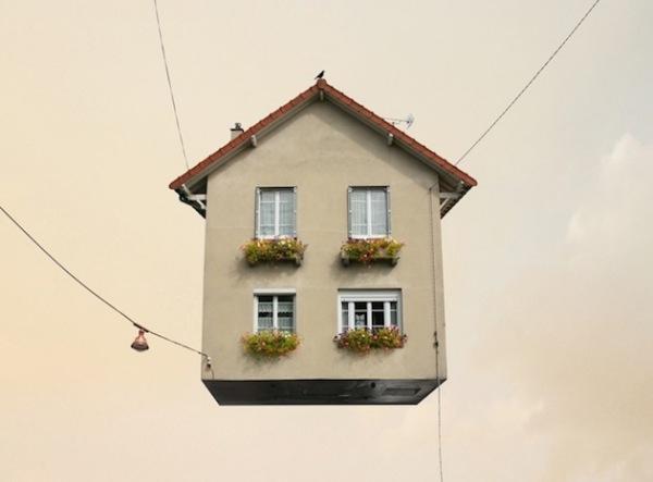 Flying Houses - серия фотографий от Laurent Chehere