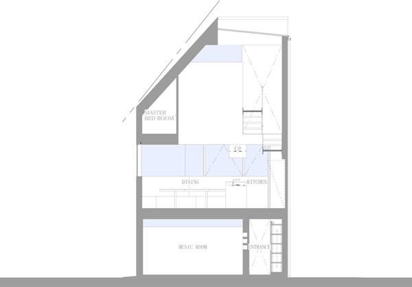 House in Matsubara – большой семейный дом на 47 квадратных метрах