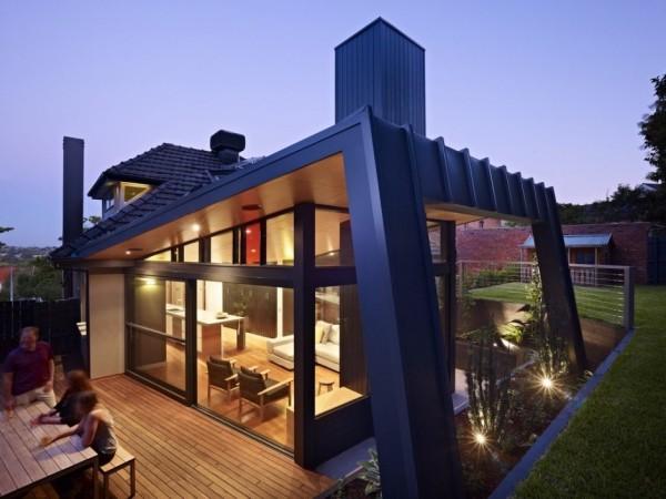Неукротимая геометрия современного жилого дома Kew House в Мельбурне