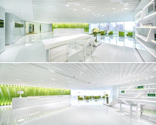 Лайм-дизайн немецкого эстетического центра в Гонконге