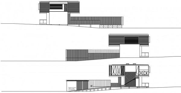 M House: эклектичный семейный дом у моря в Чили