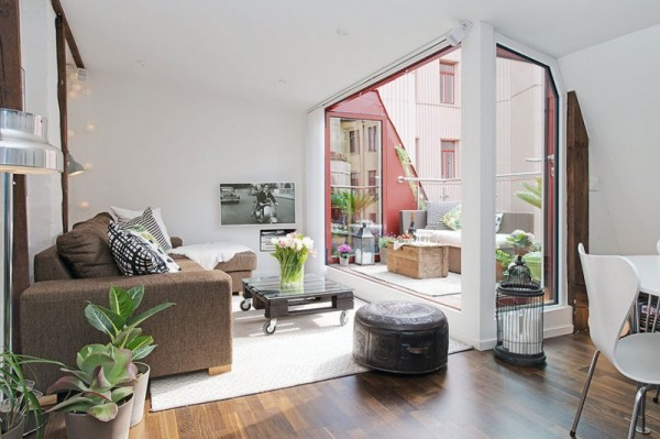 Скандинавские интерпретации в современной шведской квартире