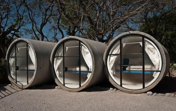 Tubohotel – отель из остатков бетонных труб в Мексике