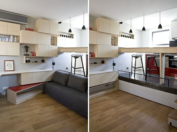 Парижская квартира-трансформер площадью 12 квадратных метров