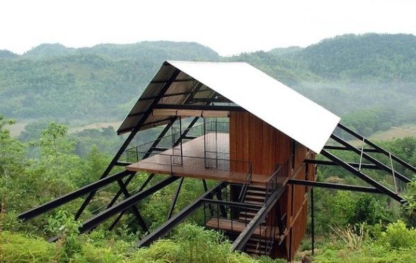 Sri Lanka Open Timber Bungalow: мини-отель на сваях на Шри-Ланке