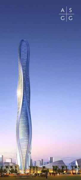 Проект волнообразного небоскреба в Дубае