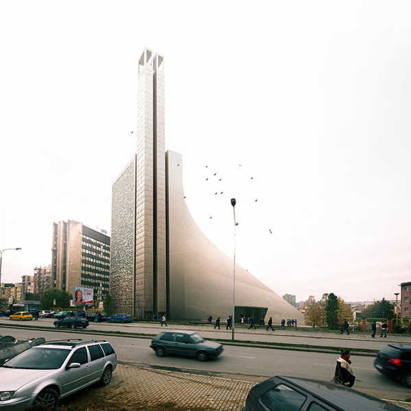 Prishtina Central Mosque – проект современной мечети от TARH O AMAYESH