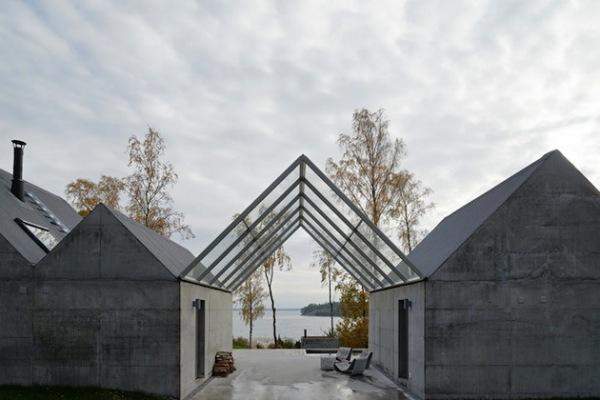 «Легкий» бетон в архитектуре загородного дома от шведских архитекторов