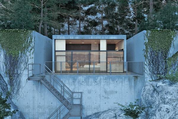 Ocean Rocky House – проект дома на океанском побережье от Игоря Сиротова (Igor Sirotov)