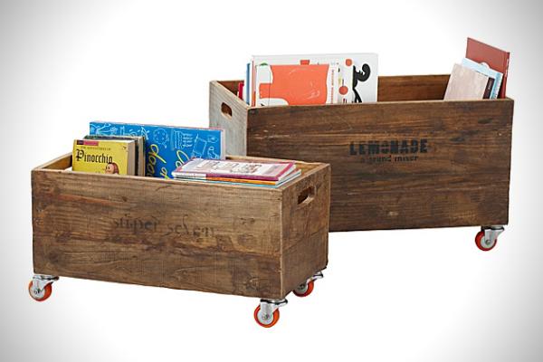 Ящики из дерева для хранения вещей