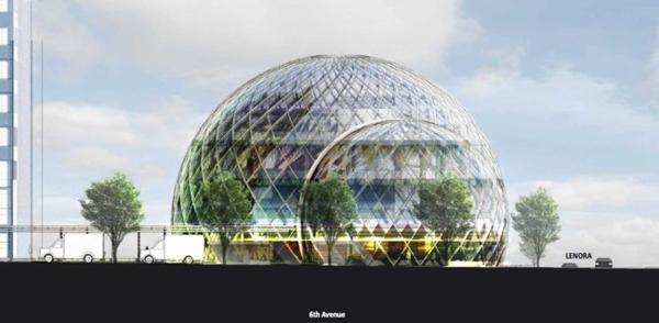Sphere-Shaped Offices - футуристический проект шарообразных офисных пространств в Сиэтле