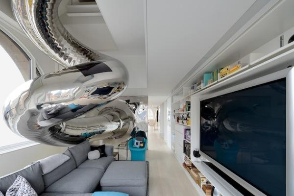 Интерьер квартиры Skyhouse на Манхэттене