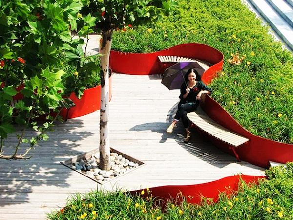 Sunken Terrace Garden: терраса, погруженная в сад