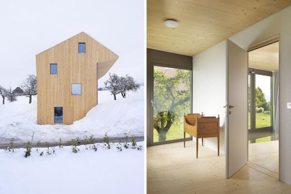 Swiss Village Duplex: современный деревенский дом в Швейцарии