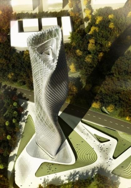 Небоскреб Taiwanese Wind Tower: футуристический декодер живой природы для Тайваня