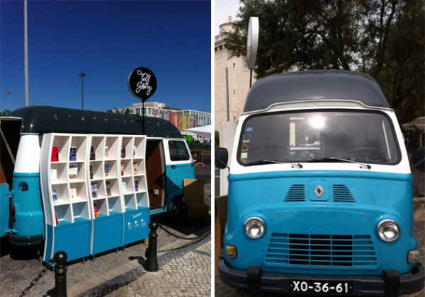 Tell A Story: мобильная витрина магазина с книгами португальских писателей