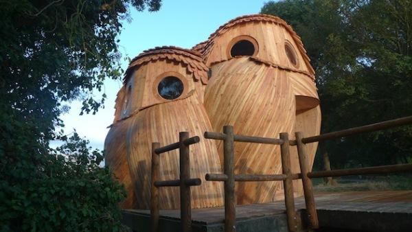 Деревянный дом The Watchers: наблюдение глазами совы