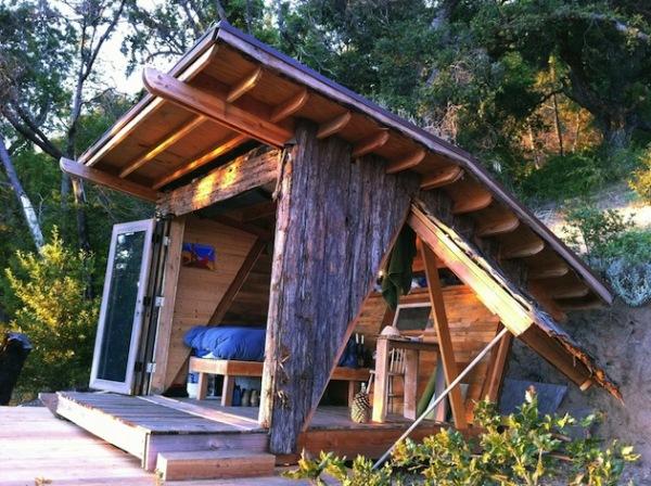 Timber Home: деревянный дом-трансформер на 8-ми квадратных метрах в горах Калифорнии