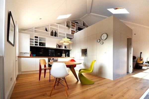Эргономичный белый лофт от Craft Design Co