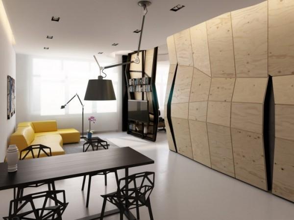 Креативная концепция квартиры-трансформера площадью 60 квадратых метров