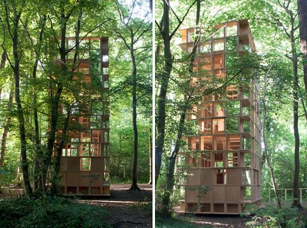 Woodsy L'observatoire Pavilion – естественная лесная обсерватория от CLP Architects