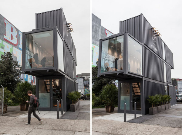 «Hayes valley store» - бутик из контейнеров в Сан-Франциско