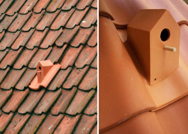Rooftiles Birdhouse – птичий дом, встроенный в кровлю городского дома