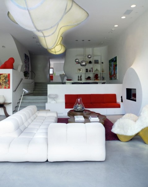 Bloom House - жилой дом от Грега Линна (Greg Lynn) в Лос-Анджелесе (Калифорния, США)