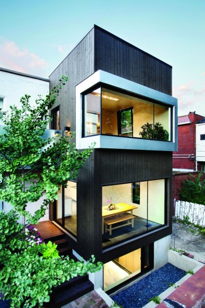 Berri Residence – современное расширение старинного дома в Монреале