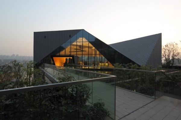 Здание клуба Chongqing Greenland Clubhouse в Китае