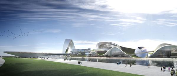 Футуристический проект Большого театра и Международного центра культуры и искусств для Чанша (Китай)