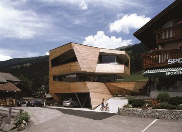 Cube House: отель, адаптированный к горному пейзажу Доломитовых Альп