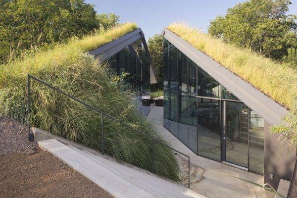 Edgeland Residence – современная землянка американских индейцев