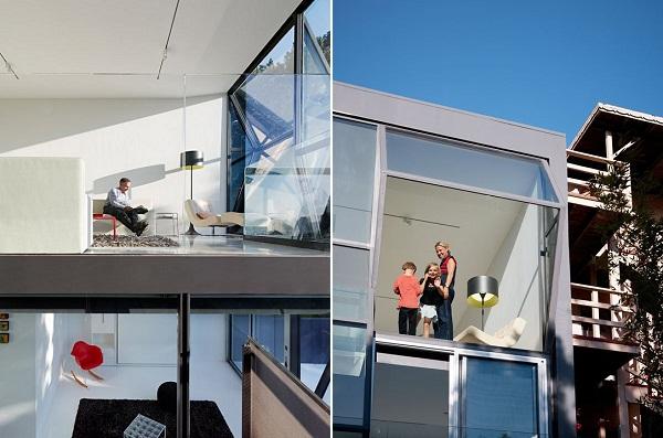 «Поломанные» окна жилого дома Flip House в Сан-Франциско