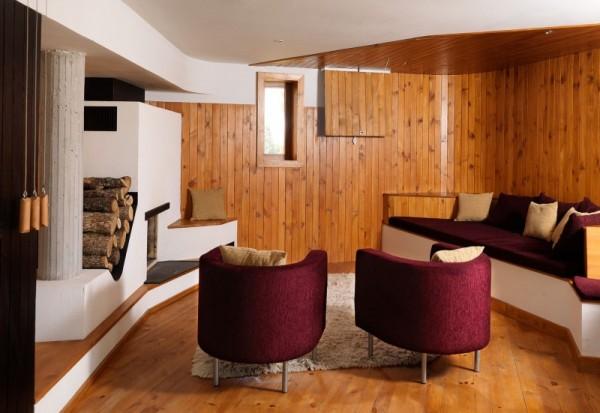 Fishing Lodge – дом отдыха, интегрированный в холм